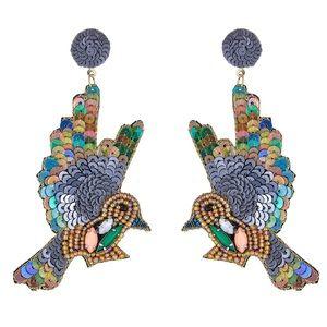 Sequin Hummingbird Drop Earrings